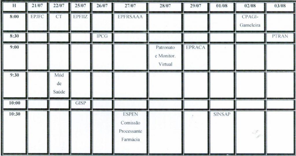 calendario apoio